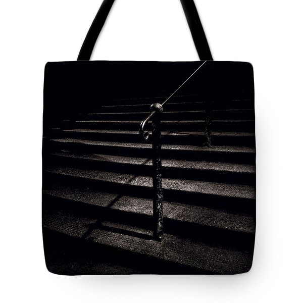 Steps To Advocate's Close Tote Bag by Dave Bowman