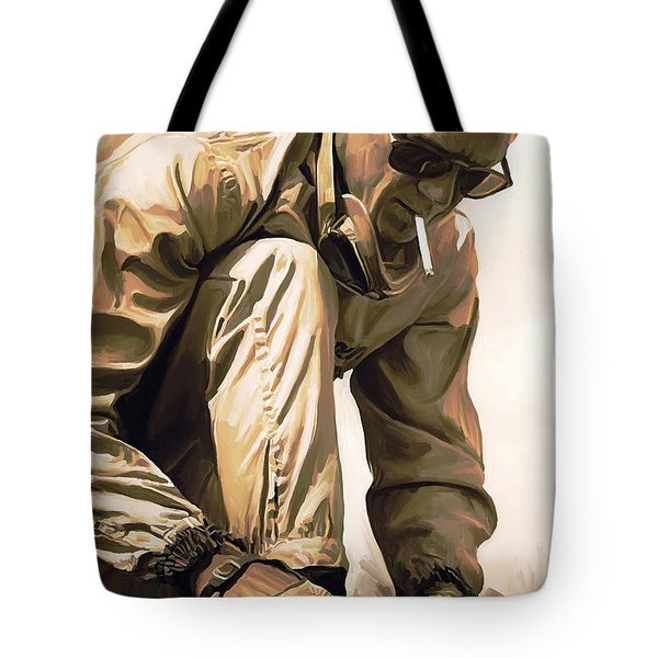 Steve Mcqueen Artwork Tote Bag by Sheraz A