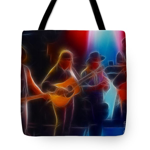 Steve Miller Band Fractal Tote Bag by Gary Gingrich Galleries