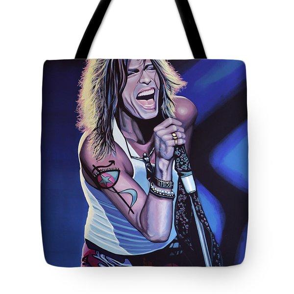 Steven Tyler Of Aerosmith Tote Bag by Paul Meijering