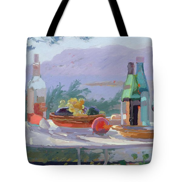 Still Life And Seashore Bandol Tote Bag by Sarah Butterfield