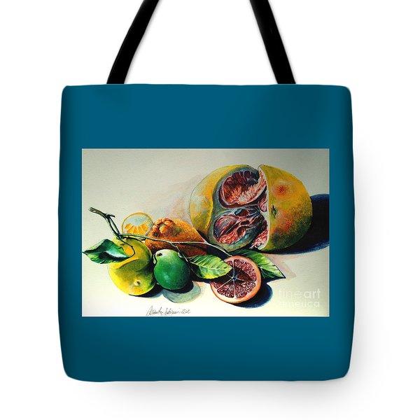 Still Life Of Citrus Tote Bag by Alessandra Andrisani