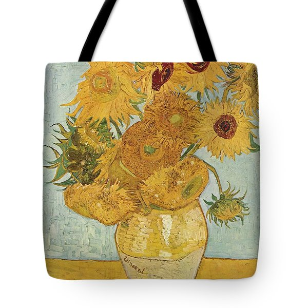 Still Life Sunflowers Tote Bag by Vincent Van Gogh
