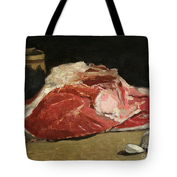 Still Life The Joint Of Meat Tote Bag by Claude Monet