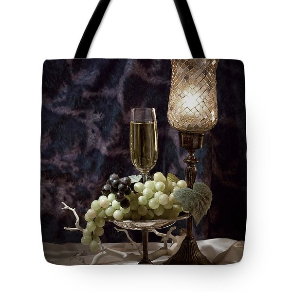 Still Life Wine with Grapes Tote Bag by Tom Mc Nemar