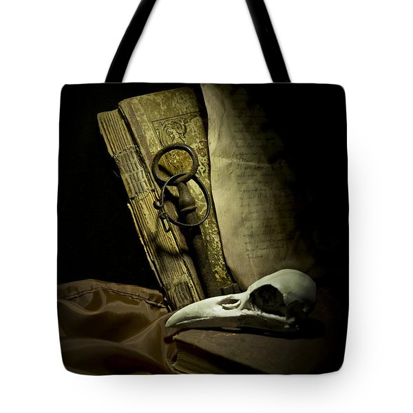 Still Life With A Bird Skull Tote Bag by Jaroslaw Blaminsky