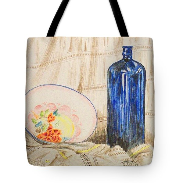 Still-life With Blue Bottle Tote Bag by Alan Hogan