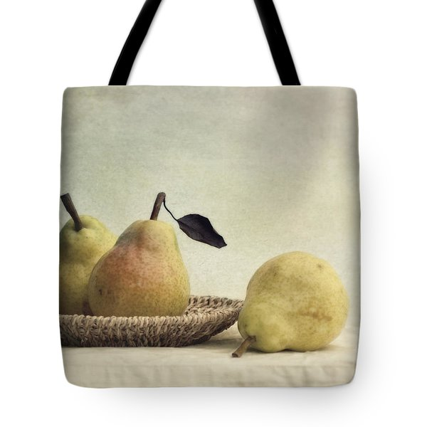 still life with pears Tote Bag by Priska Wettstein