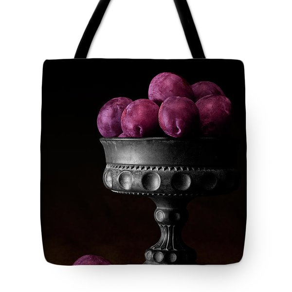 Still Life With Plums Tote Bag by Tom Mc Nemar