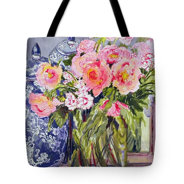 Still Life With Two Blue Ginger Jars Tote Bag by Joan Thewsey