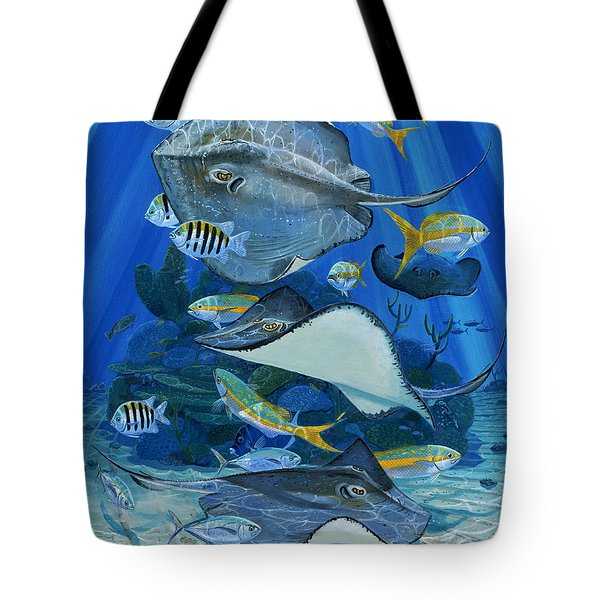 Stingray City Re0011 Tote Bag by Carey Chen