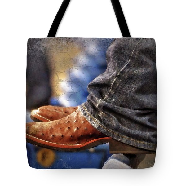 Stockshow Boots III Tote Bag by Joan Carroll