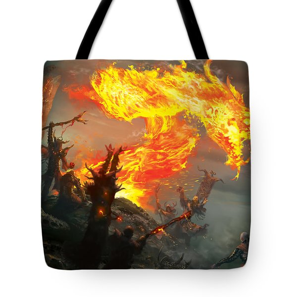 Stoke The Flames Tote Bag by Ryan Barger