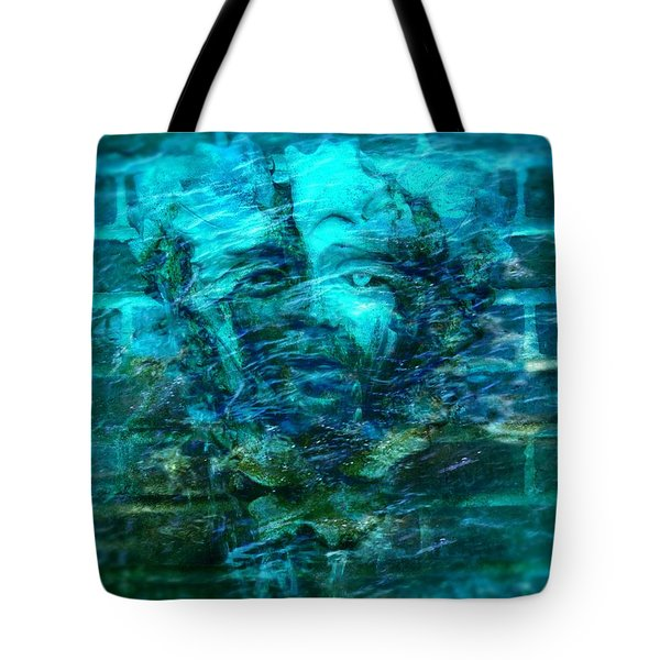 Stone Face Under The Water Tote Bag by Lilia D