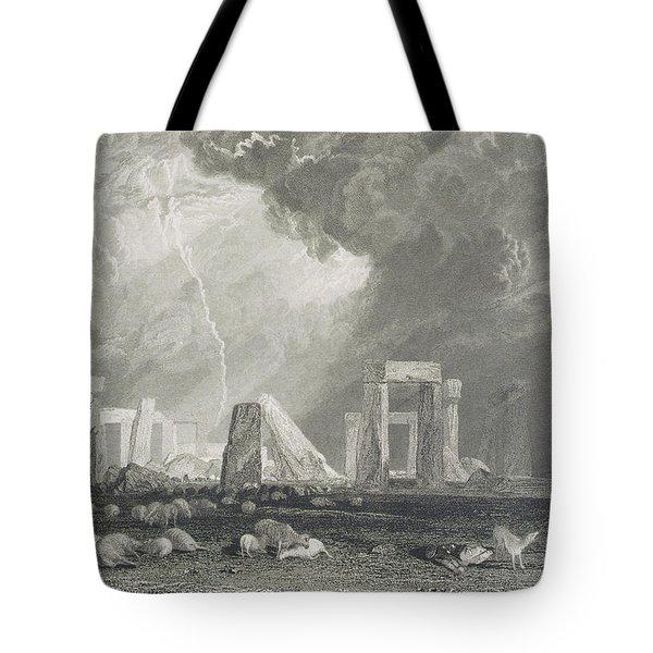 Stone Henge Tote Bag by Joseph Mallord William Turner