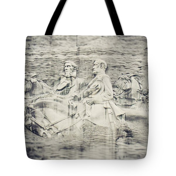 Stone Mountain Georgia Confederate Carving Tote Bag by Lisa Russo