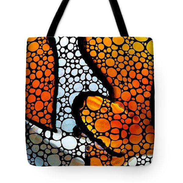 Stone Rock'd Clown Fish By Sharon Cummings Tote Bag by Sharon Cummings