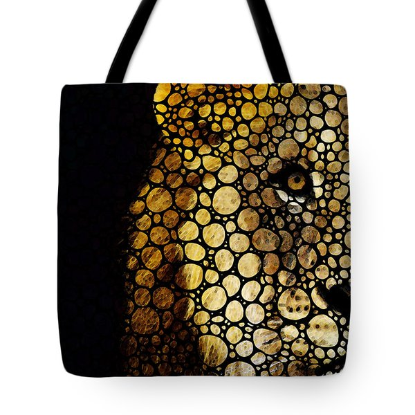 Stone Rock'd Lion - Sharon Cummings Tote Bag by Sharon Cummings