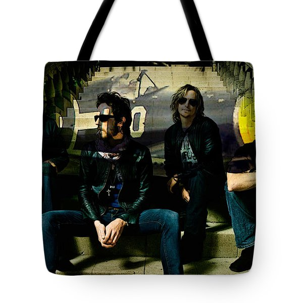 Stone Temple Pilots Tote Bag by Marvin Blaine