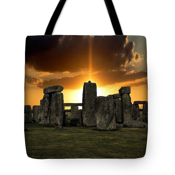 Stonehenge Wiltshire Uk Tote Bag by Martin Newman