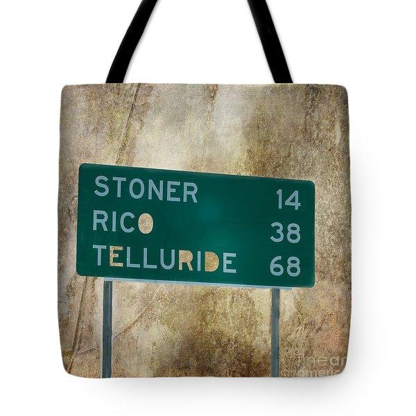 Stoner Rico Telluride Tote Bag by Janice Rae Pariza