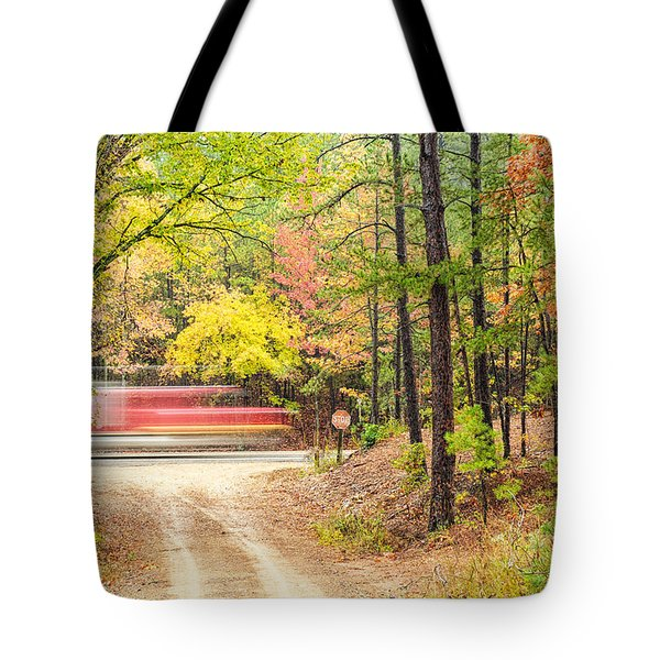 Stop - Beaver's Bend State Park - Highway 259 Broken Bow Oklahoma Tote Bag by Silvio Ligutti