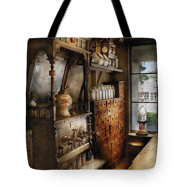 Store - Turn Of The Century Soda Fountain Tote Bag by Mike Savad