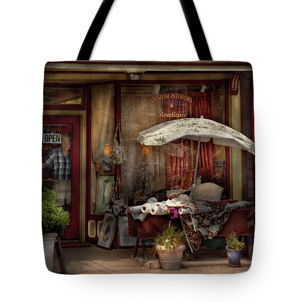 Storefront - Frenchtown Nj - The Boutique Tote Bag by Mike Savad