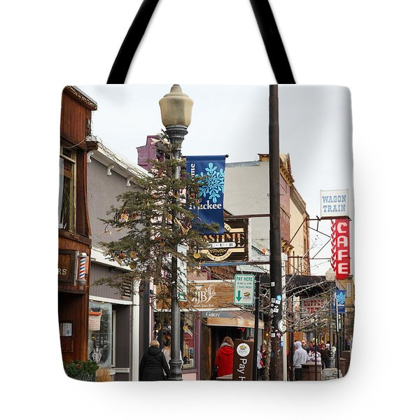 Storefront Shops in Truckee California 5D27489 Tote Bag by Wingsdomain Art and Photography