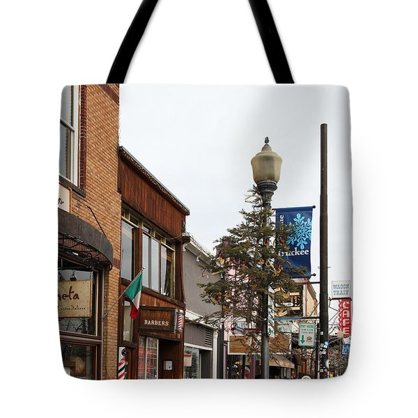 Storefront Shops In Truckee California 5d27490 Tote Bag by Wingsdomain Art and Photography