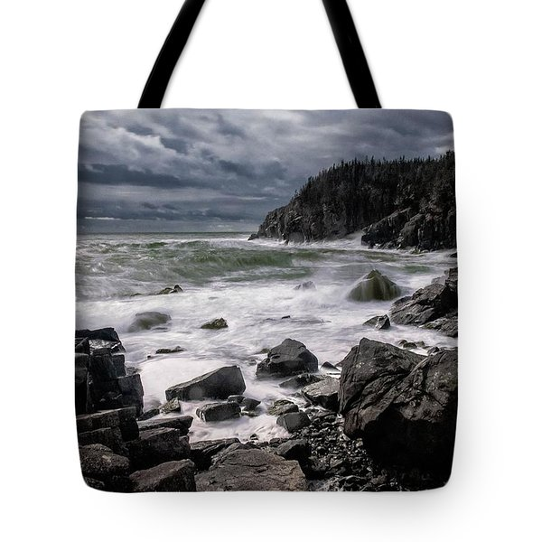 Storm At Gulliver's Hole Tote Bag by Marty Saccone