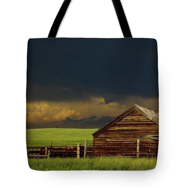 Storm Crossing Prairie 2 Tote Bag by Robert Frederick