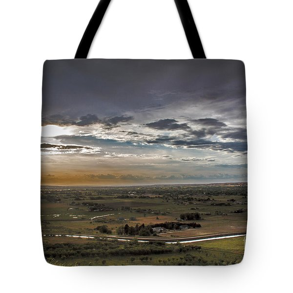Storm Over Emmett Valley Tote Bag by Robert Bales