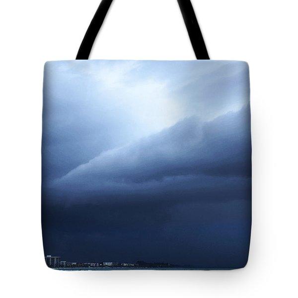 Storm Over Siesta Key - Beach Art By Sharon Cummings Tote Bag by Sharon Cummings