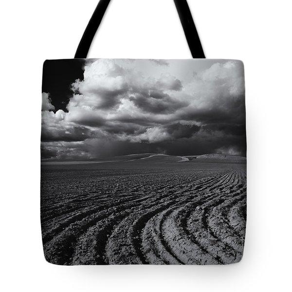 Storm Path Tote Bag by Mike  Dawson