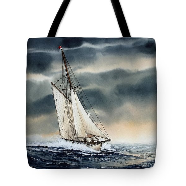 Storm Sailing Tote Bag by James Williamson