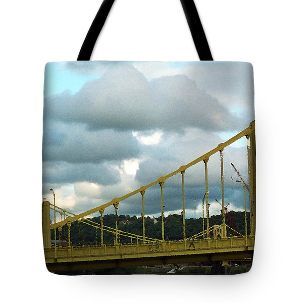 Stormy Bridge Tote Bag by Frank Romeo