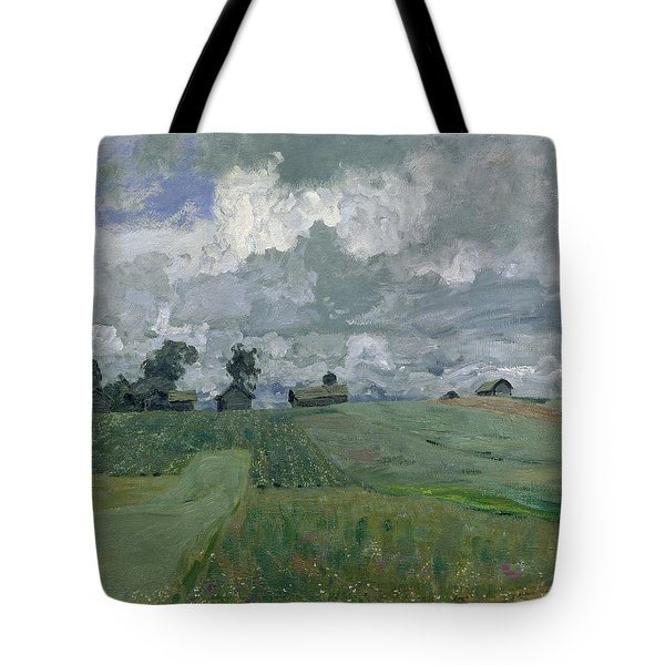 Stormy Day Tote Bag by Isaak Ilyich Levitan