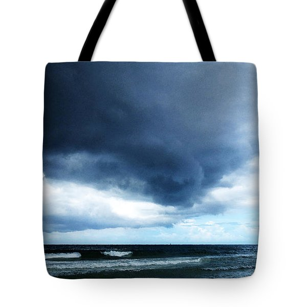 Stormy - Gray Storm Clouds by Sharon Cummings Tote Bag by Sharon Cummings