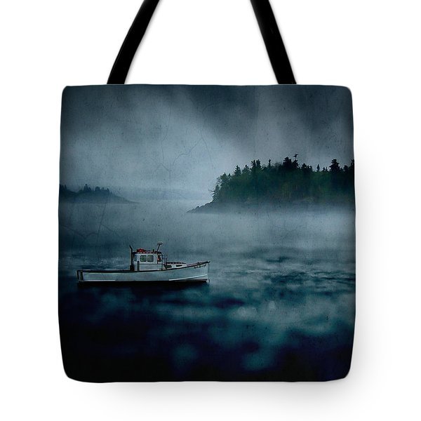 Stormy Night off the Coast of Maine Tote Bag by Edward Fielding