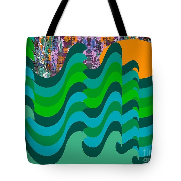 STORMY SEA Tote Bag by Patrick J Murphy