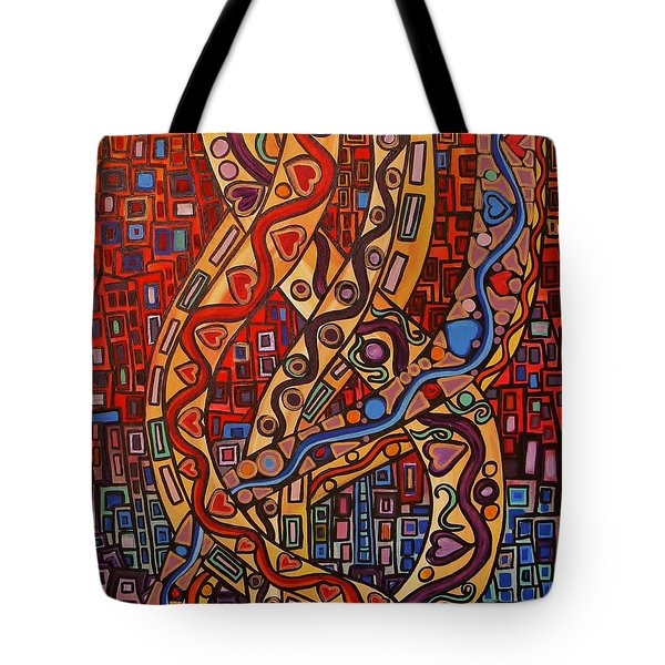 Story Lines Tote Bag by Barbara St Jean
