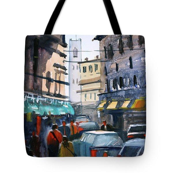 Strangers In Rome Tote Bag by Ryan Radke