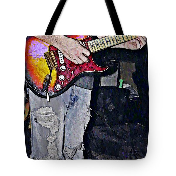 Strat Man  Tote Bag by Chris Berry