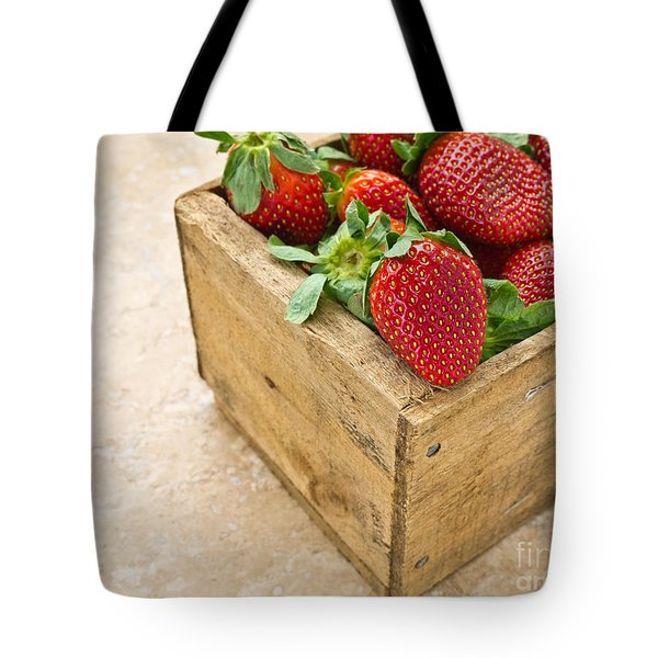 Strawberries Tote Bag by Edward Fielding