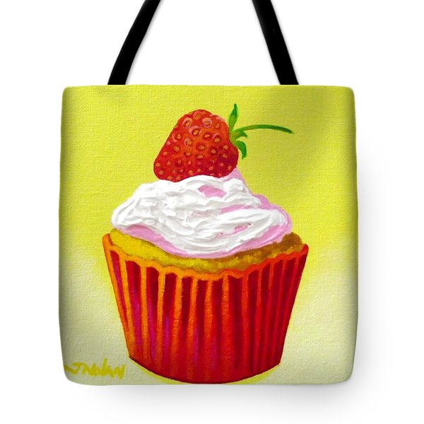 Strawberry Cupcake Tote Bag by John  Nolan
