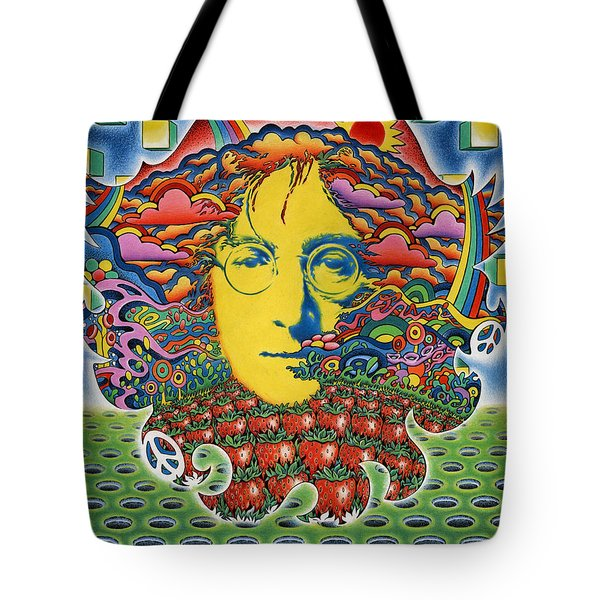 Strawberry Fields For Lennon Tote Bag by Jeff Hopp