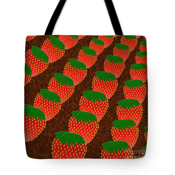 Strawberry Fields Forever Tote Bag by Andee Design