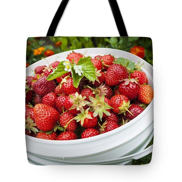 Strawberry Harvest Tote Bag by Elena Elisseeva