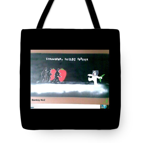Strawberry Shields Forever Tote Bag by MERLIN Vernon